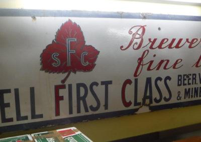 A rare 1940s SFS Farsons enamel sign