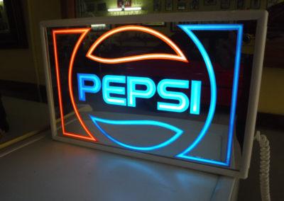 A 1980s Pepsi light-up sign