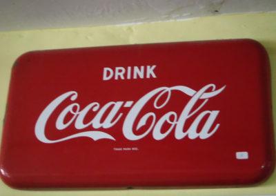 1940s enamel Coca-Cola sign
