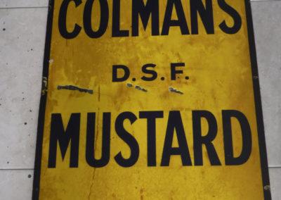 A 1930s Coleman's Mustard enamel sign
