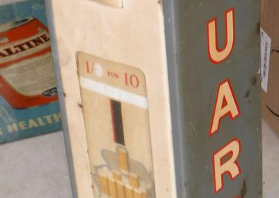 A 1950s Guards Cigarette machine