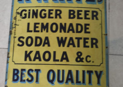 A 1930s R. Whites Best Quality enamel sign