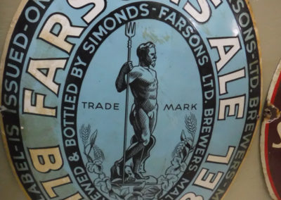 A set of four 1929 Oval Farsons enamel signs which were produced in Malta