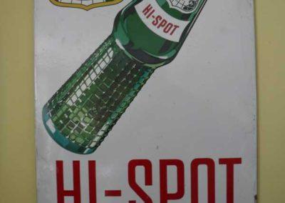 A1940S Canada Dry Hi-Spot enamel sign